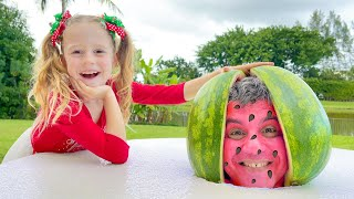 Download lagu Nastya and Watermelon with a fictional story for kids