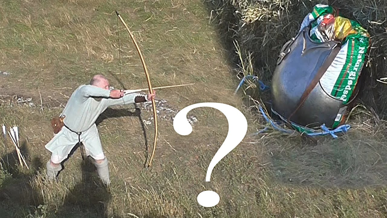 Can A Steel Breastplate Withstand A 130Pound Longbow Lets Find Out