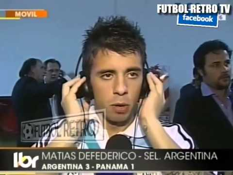 Matias Defederico  post ARGENTINA vs PANAMA 2009