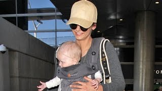 Nina Dobrev Looks Maternal Carrying Baby At LAX After Partying In Cabo With Julianne Hough