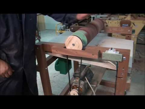 Drum Sander Homemade. Thickness Sander - Wood Machine