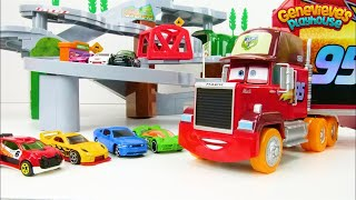 Let's Learn Colors with Tomica Mountain Drive Playset and Toy Cars!