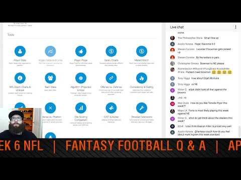 DFS Week 6 Picks NFL 2017 and Fantasy Football Q&A