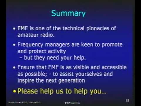 Amateur Radio Microwave EME Spectrum Issues