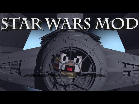 Star Wars Mod: Minecraft Star Wars Mod Showcase! Ships, Guns & Jedi!