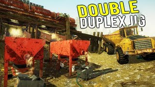 NEW DOUBLE DUPLEX JIG GOLD MINING UPDATE! Biggest Gold Mine Ever! - Gold Rush Full Release Gameplay