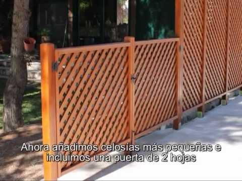 Celos as enmarcadas para exterior youtube for Como hacer una puerta de madera para jardin