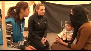 Angelina Jolie UNHCR  Visits Syria