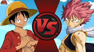 LUFFY vs NATSU! (One Piece vs Fairy Tail) Cartoon Fight Club Episode 157
