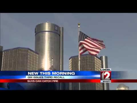 GM recalls SUVs for third time