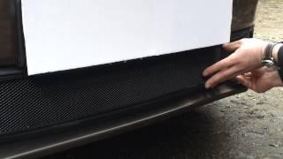 Видео: Защитная сетка радиатора Volkswagen Jetta VI 2010 black