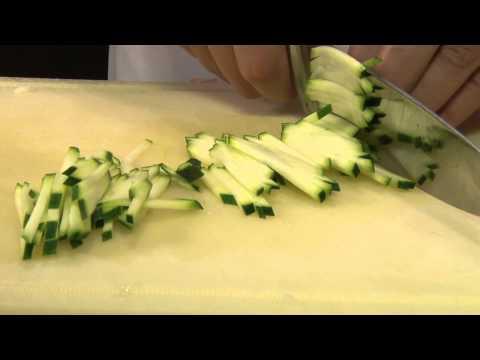 Zöldség - julienne és baton vágás, szeletelés