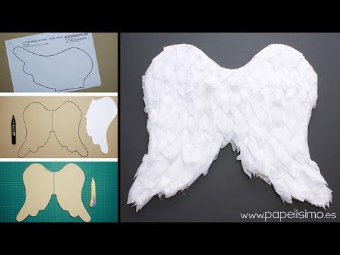 Alas de ángel de papel para niño - Papelisimo