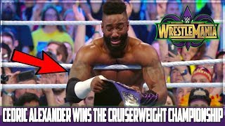CEDRIC ALEXANDER WINS THE CRUISERWEIGHT CHAMPIONSHIP (WRESTLEMANIA 34 RESULTS)
