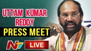Uttam Kumar Reddy Speaks With media LIVE | Telangana Elections | LIVE