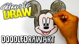 Drawing: How To Draw Mickey Mouse Step by Step!  For kids!