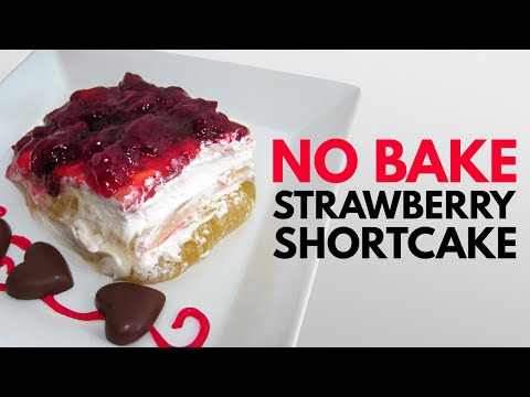 Strawberry Shortcake (No Bake Recipe)