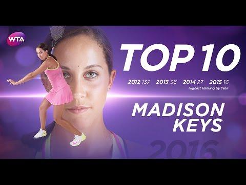 Madison Keys Breaks Into Top 10