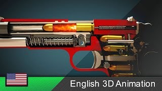 How a gun (Colt M1911) works! (Animation)
