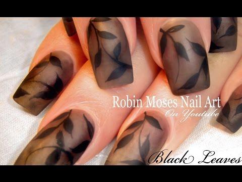 Nail Art | DIY Matte Black Polish Nails Design Tutorial