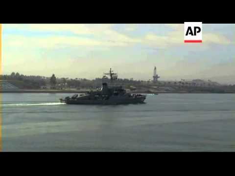 Iran navy ships return through Suez Canal