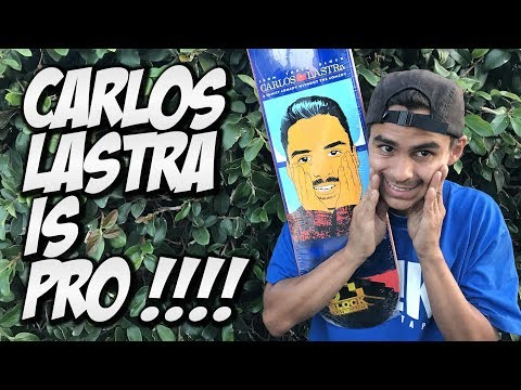 CARLOS LASTRA IS PRO !!! 3 BLOCK UNBOXING AND SKATE SESSION !!!