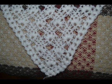 Вязание крючком - Шаль с
