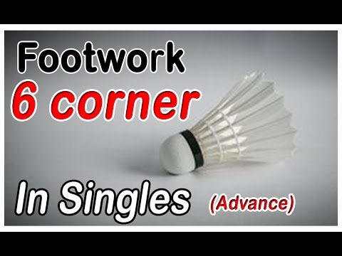 Badminton Footwork - 6 Corners In Singles (advance) video