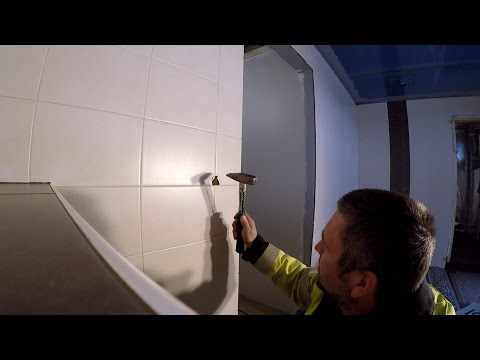 How to cut a round hole in ceramic tile