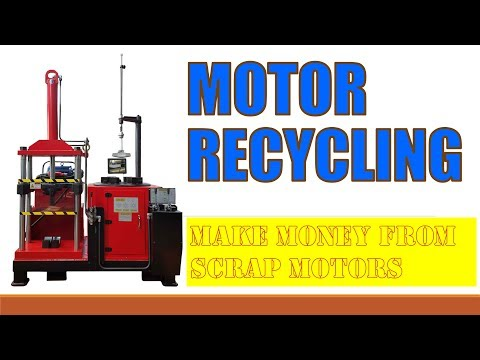 industrial electric motor recycling machine mw 808ii youtube