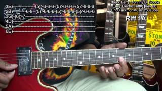 How To Play Chuck Berry Johnny B. Goode 1 Easy Electric Guitar Riffs#1 EricBlackmonGuitar HD
