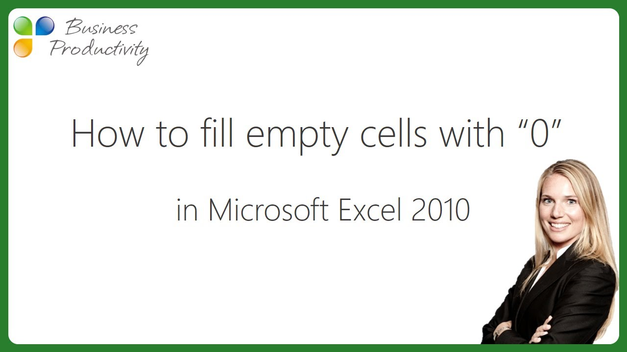 how to clear empty cells in excel