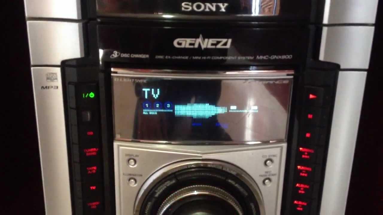 SonyGeneziMhcGnx800Youtube