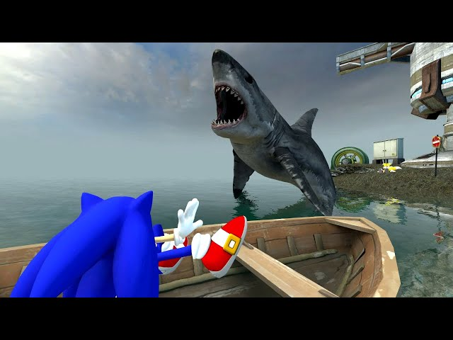(April fools 2012) Exclusive! Sonic in JAWS 2 sneak peek!