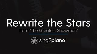 Rewrite The Stars From 34 The Greatest Showman 34 Piano Instrumental Zac Efron Zendaya