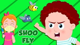 Shoo Fly Don't Bother Me | Nursery Rhymes For Children | Cartoon Videos For Kids - Kids Channel