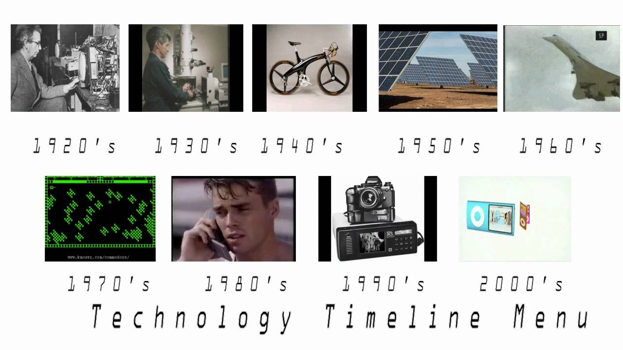 Technology Advances Timeline Timeline of Technology