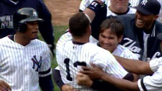 video 4/7/07: Alex Rodriguez lifts a walk-off grand slam with two outs in the 9th that lands in the black center-field bleachers at Yankee Stadium Check out m.mlb.com/video for our full archive...
