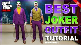 GTA 5 Online - Best JOKER Outfit Tutorial! How To Create Rare Cool Joker Clothing! GTA 5 Glitches!