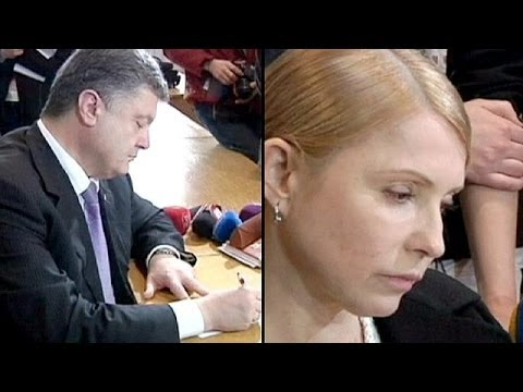 Ukraine presidential election: The 'Chocolate King' vs the 'Gas Princess'
