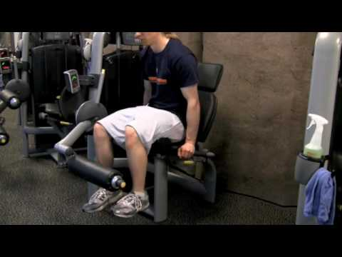 Techno Gym Leg Extension Demonstration Image 1