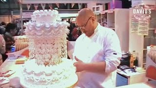 CAKE DECORATING ROYAL ICING PIPING TECHNIQUES - STRING WORK - CAKE INTERNATIONAL - 2014 TV SHOWREEL