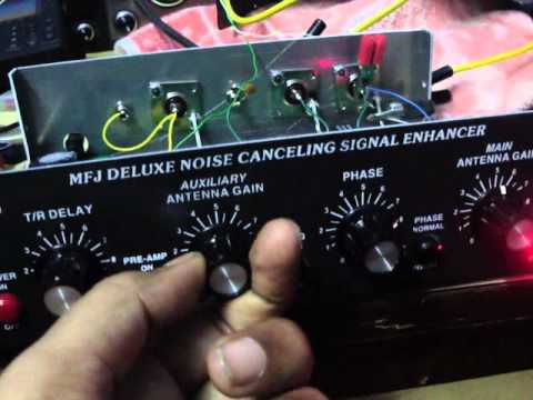 MFJ 1026 Noise Canceler Signal Enhancer in operation