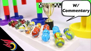 EPIC Team Marble Race #9 with Commentary | Toy Racing
