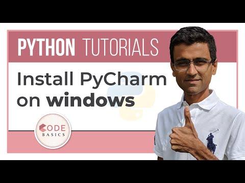 Python Tutorial - 6. Install PyCharm on Windows