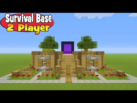 "Minecraft Tutorial: How To Make A 2 Player Survival Base ""Survival Base Minecraft"""