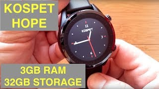KOSPET HOPE 4G Android 7.1.1 3GB/32GB IP67 Waterproof Smartwatch: Unboxing and 1st Look