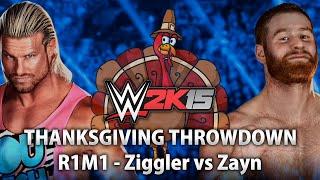 WWE 2K15 Thanksgiving Throwdown 2014 - Dolph Ziggler vs Sami Zayn (R1M1)