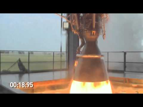 SpaceX Tests the New Merlin 1D Rocket Engine | NASA COTS Program Falcon Dragon HD