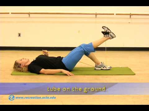 BruinStrength - Tube Exercises - BYF - Supine Leg Extension, UCLA Image 1